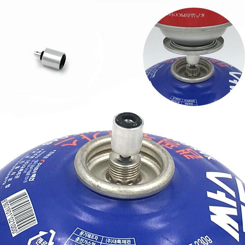 Ofen Butan Gas Metall Adapter Umwandeln Kraftstoff Kanister für Lang//Flach Tan