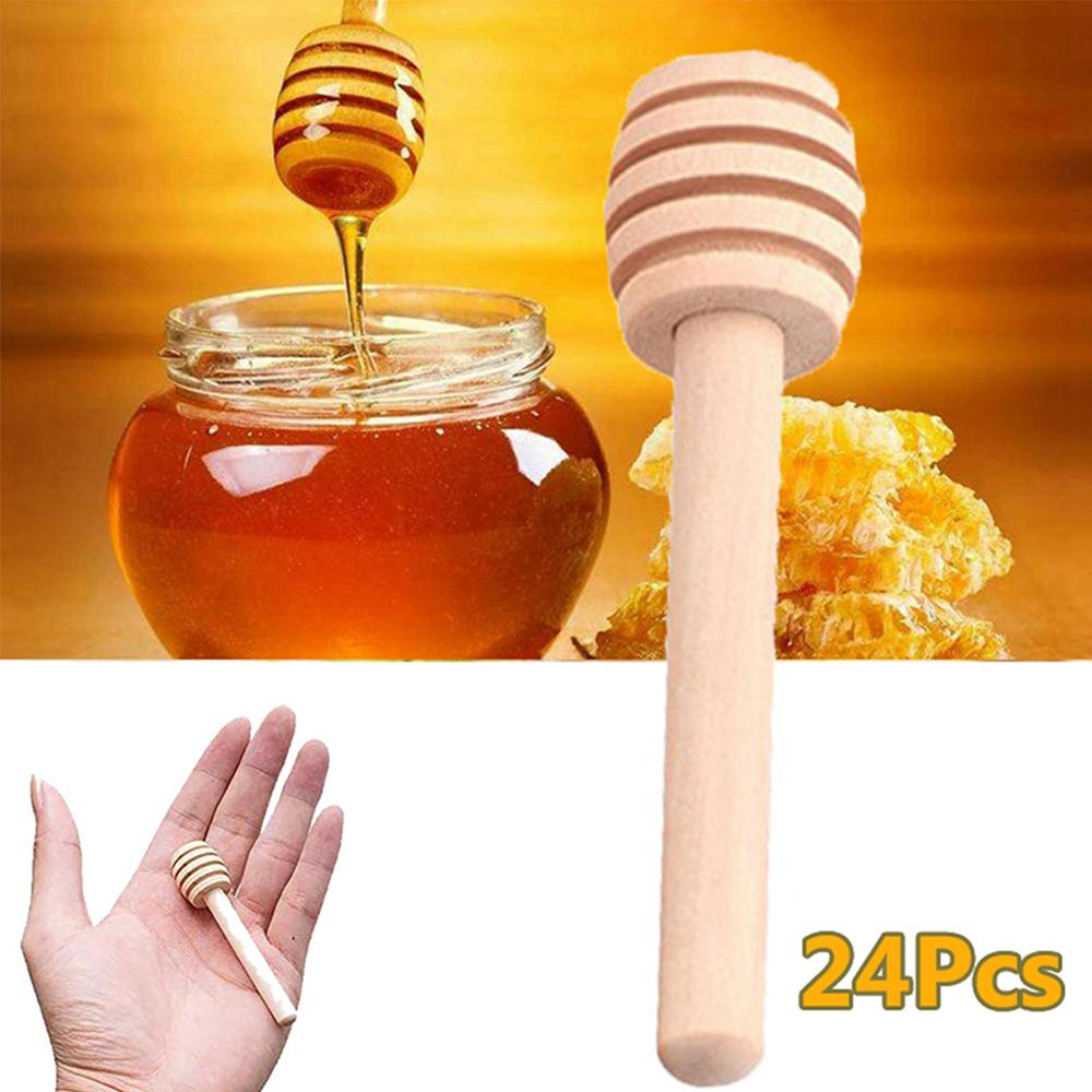 8cm Mini Wooden Honey Stirring Stick Honey Spoon For Coffee Milk Tea Spoon