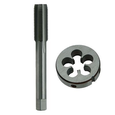 2pcs High Speed Steel HSS M12x1.25mm Metric Tap /& Die Right Hand Thread Tool Kit