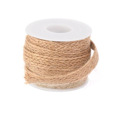 Jute Burlap Hessian Woven Ribbon Rope Cord String Wedding Gift Bow Wrapping