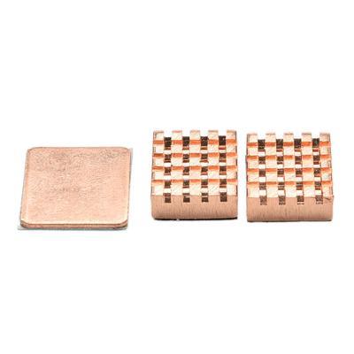 1 Set of Heatsinks 3 Pcs of Copper Heat Sink Cooling Kit for Raspberry Pi 3~