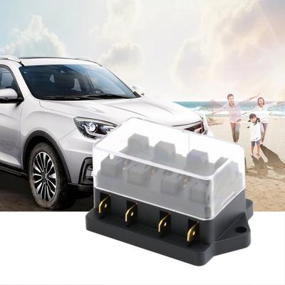4 Way Circuit Automotive Middle-sized Blade Standard Fuse Box Block  Blade Automotive Fuse Box on led car fuses, automotive blade connectors, automotive glass fuses, different types of fuses, types of automatic fuses, mini blade fuses, buss automotive fuses, dimensions of blade fuses,