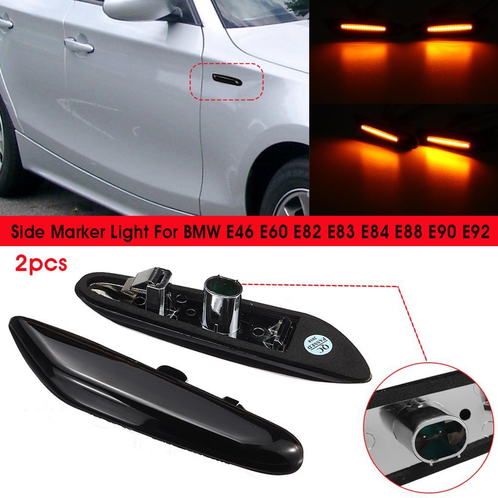 BMW E81 E87 E82 E88 E90 E91 E92 Clear LED Side Marker Lights