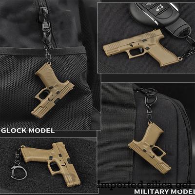 New Tactical Pistol Shape Keychain Mini Portable Decoration Detachable G45 1911 M92 Gun Weapon Keyring Key Chain Trend Gift