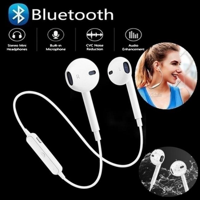Спорт Беспроводная гарнитура Bluetooth гарнитура Потнеудная Earbud Стерео Unisex Bluetooth наушники фото