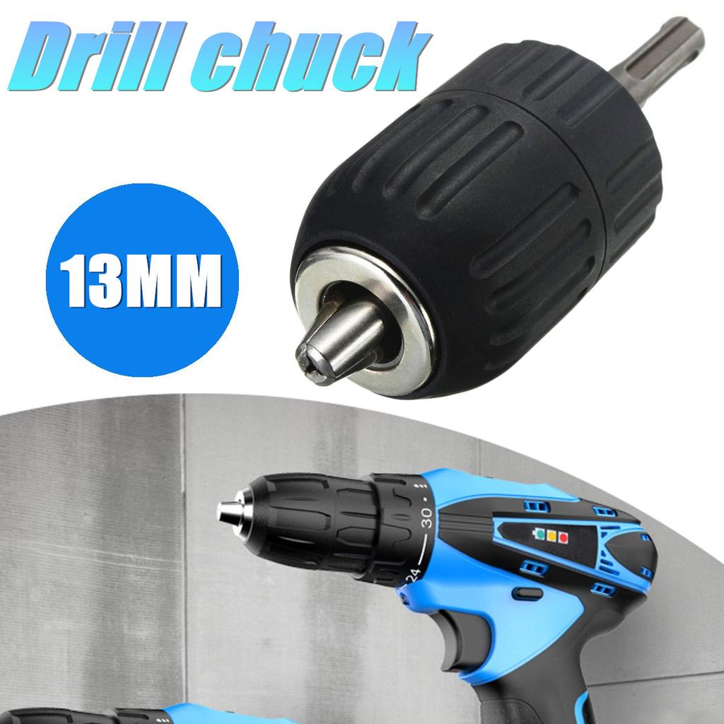 "HSS Keyless Drill Chuck 2-13mm To 1//2/"" 20UNF Thread W// SDS Adapter-Tools 50mm"