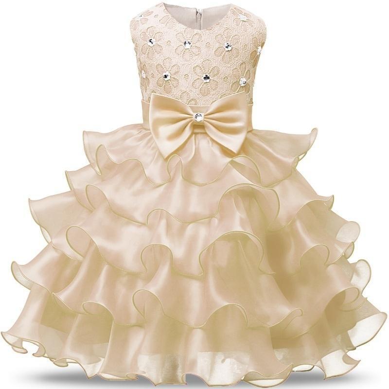 Fleur Fille Sequin Heart Robe Tutu Bébé formelle Parti mariage Tulle Robe