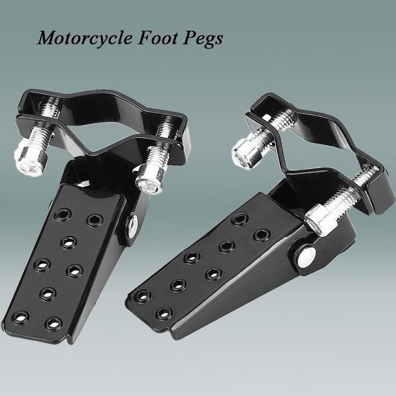 Exterior Door Hinge Foot Rest Peg Pedal Supple blue-net Black Steel Jeep Foot Pegs