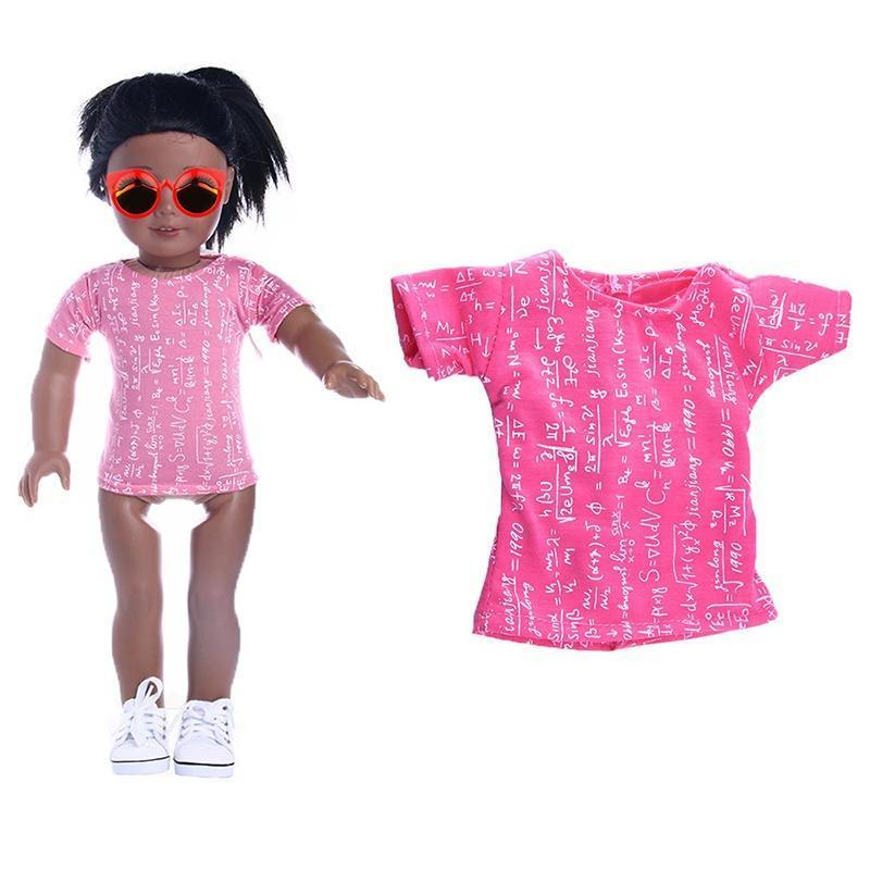 Mode Pink T Shirt Kleidung Top für 18-Zoll-American Girl Doll Party ...