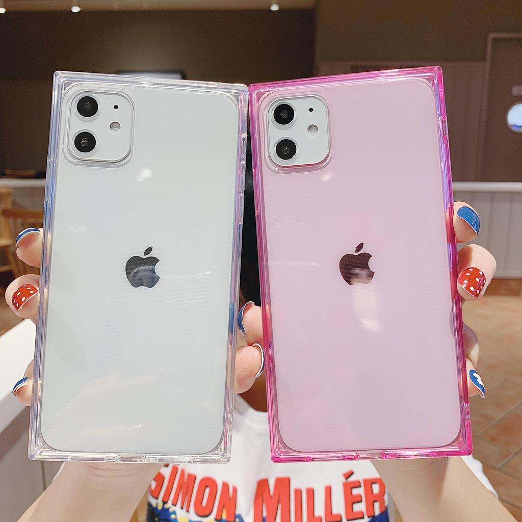 Semplice quadrato trasparente morbido Tpu Phone custodia per Iphone 11/11 PRO/11 PRO MAX/XS/XR/X/8/7/6/7 plus – acquistare a basso prezzo nel negozio ...
