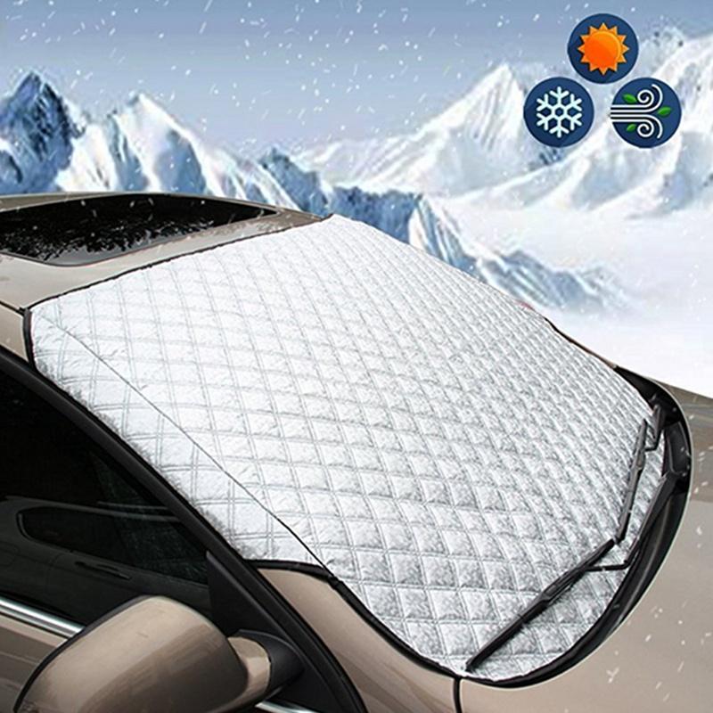 Автомобиль лобовое стекло Обложка Магнитный автомобиль окно экран Мороз Большой снег пыли протектор фото