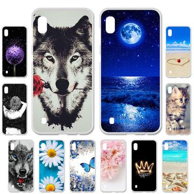 Akabeila Cases for Samsung Galaxy A10 A105 A105F SM-A105F Cover Painted Case Phone Bag Protector