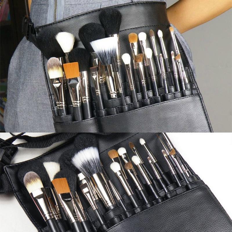 737e06951 Profesional 22 bolsas cosméticos Maquillaje artista cepillo delantal ...