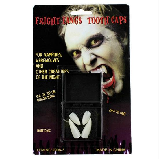 1 Pair Halloween Cosplay Vampire False Tooth Werewolves Fangs Dentures Teeth