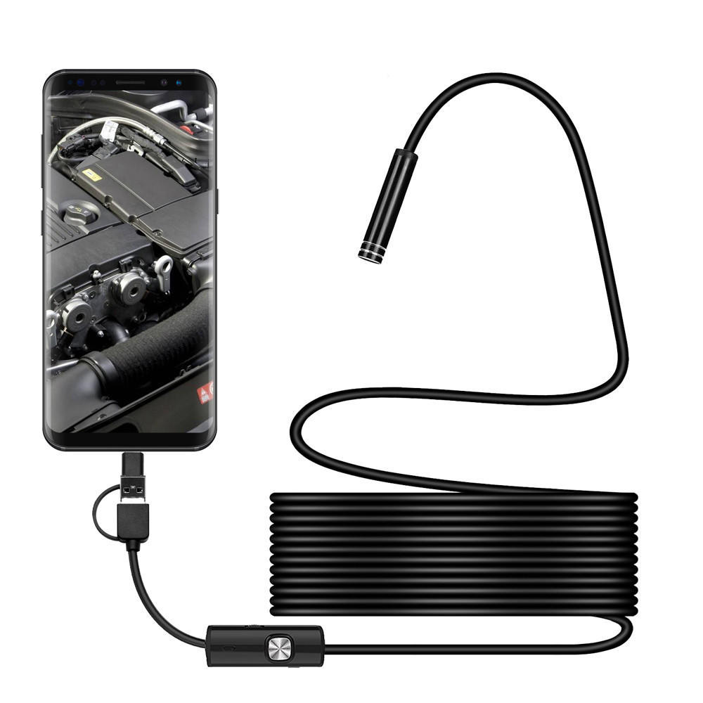3 In 1 Endoscope USB Type-C Inspection Camera Borescope for Android Phone PTPITW