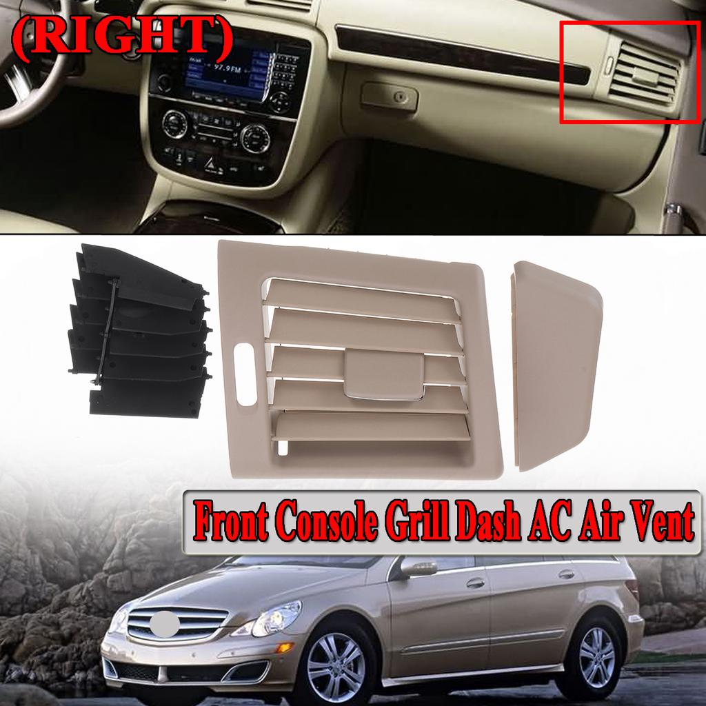 Front Black Chrome Console Grill Dash AC Air Vent For Mercedes R W251 R280
