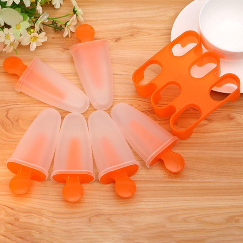 Ice Cream Shape Grid Silicone Cake Mould Ice Lolly Frozen Popsicle Mould Tray UK