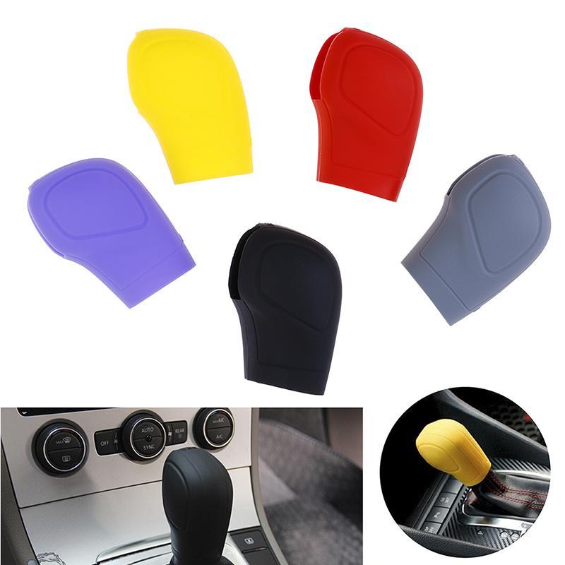 Auto Gear Shift Knob Handbremshebel Grip Cover Silikon Sch/ützen Cover schwarz