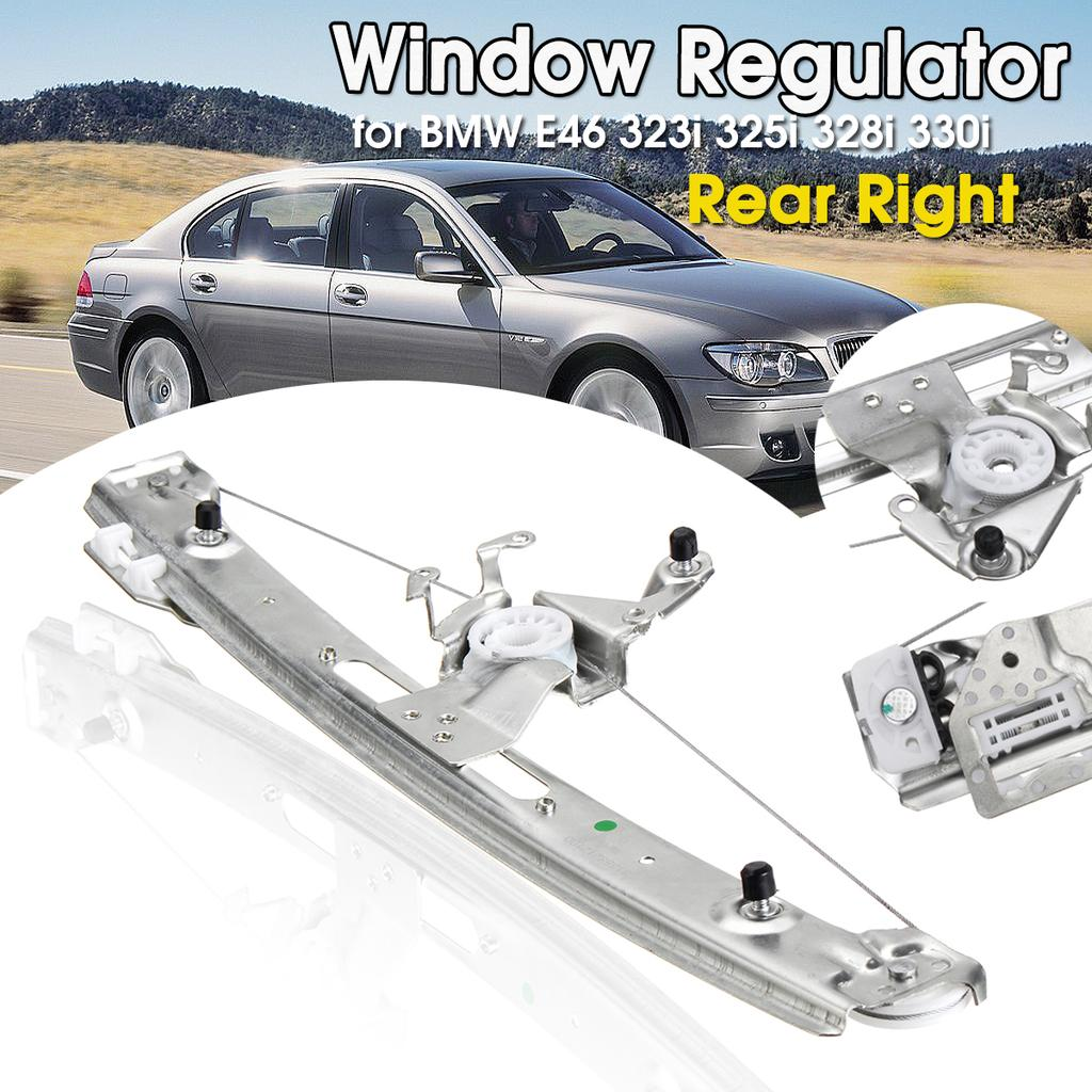 Power Window Lift Regulator on Front Right Passengers Side with Motor Assembly Replacement for 2001-2005 BMW 325i 325xi 330i 2000 BMW 323i 328i 1999 BMW 323i 328i Sedan