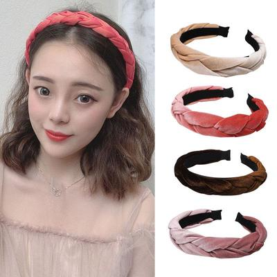 DOUBLE LAYER GAUZE FAUX PEARL WOMEN KNOTTED HAIR HOOP HEADBAND HEADWEAR BLING