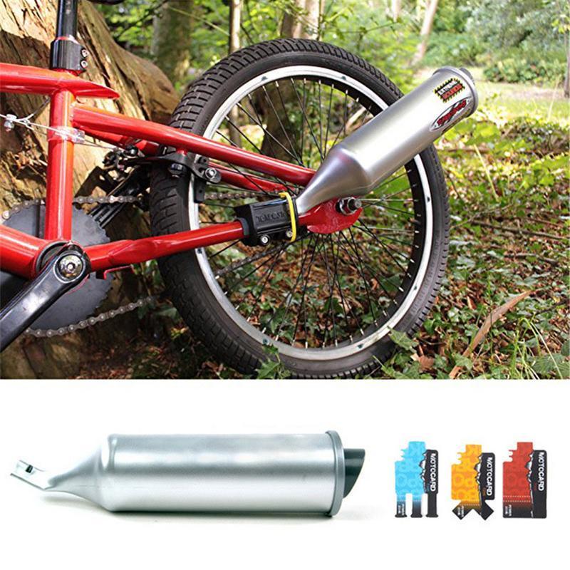Bike Motor Pipe Bicycle Exhaust System Megaphone Motocard Turbospoke Loud Sounds