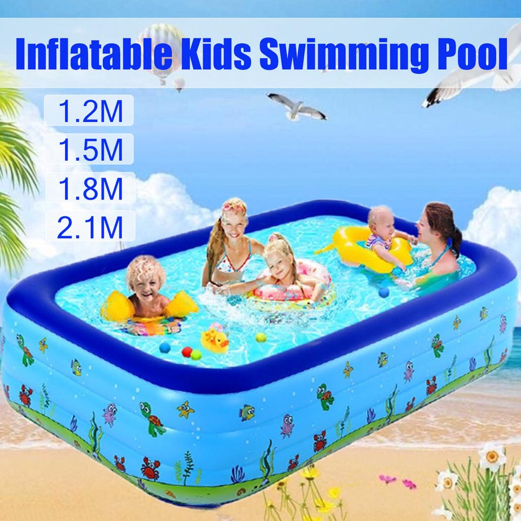 Buy Summer Kids Inflatable Pool Children S Home Use Paddling Pool Large Size Inflatable Square Swimming Pool For Baby At Affordable Prices Free Shipping Real Reviews With Photos Joom
