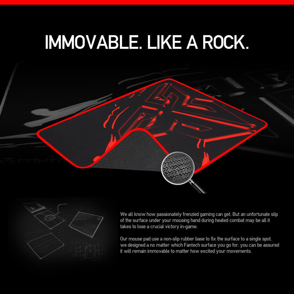 Fantech Mp80 Control Edition Gaming Mouse Mat Pad Mousepad Cabrite 300 X 250mm 1 Of 4