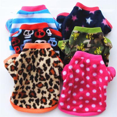 Christmas Pet Dog Clothes Coat Winter Cute Leopard Dot Pet Pullover Shirt Costume Small Dachshund Cat Puppy Clothes For Dogs