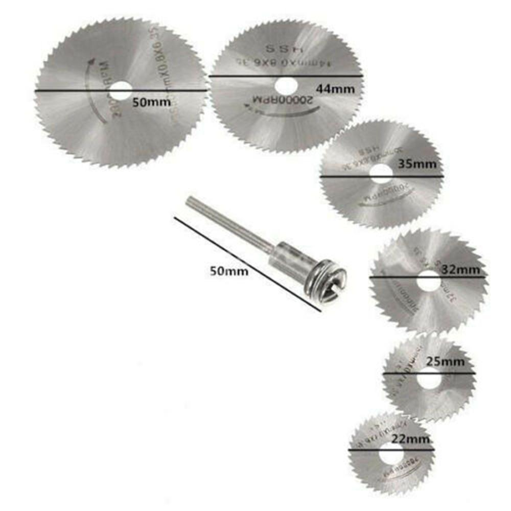 5 x 22mm Glass Cut Off Metal Diamond Rotary Blades w//Mandrel Mini Cutting Discs