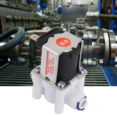 Compact Lightweight Plastic Electric Solenoid Valve Quick Connection for Water Purifier 24VDC N//C Solenoid Valve