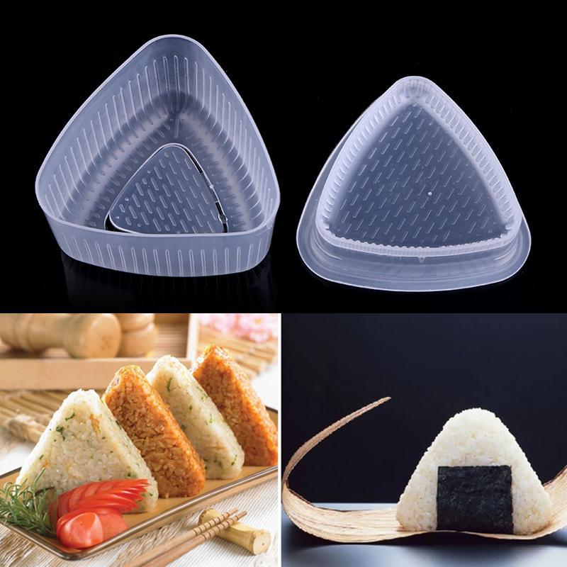 Details about  /2Pcs Triangular Form Sushi Mould Onigiri Rice Ball Bento Press Maker DIY Tool