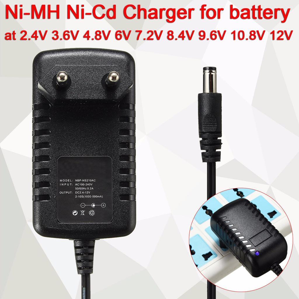 Intelligent Charger for NiMH NiCd 3.6V 4.8V 6V 7.2V 8.4V 9.6 10.8 12V Battery US