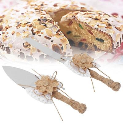 Burlap Wedding And Party Cake Knife Wedding Cake Knife And Cake Shovel Cake Cutter Buy At A Low Prices On Joom E Commerce Platform