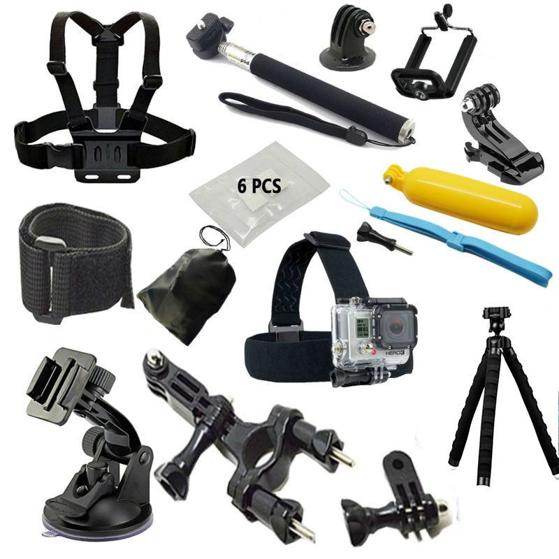 //3//2 //1 Quality Timemall Action Camera Accessories Helmet Belt Mount for GoPro HERO7 //6//5 //5 Session //4 Session //4//3 Xiaoyi and Other Action Cameras