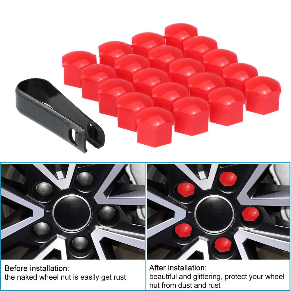 AutoStyle Wheel Nut Covers Chromed Steel 17mm//20pcs