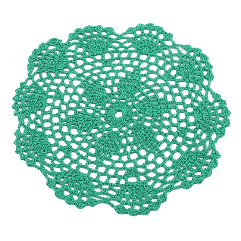 30 см круглый хлопка Blend ручной крючком цветочные кружева салфетка таблице Placemat мат – купить по низким ценам в интернет-магазине Joom