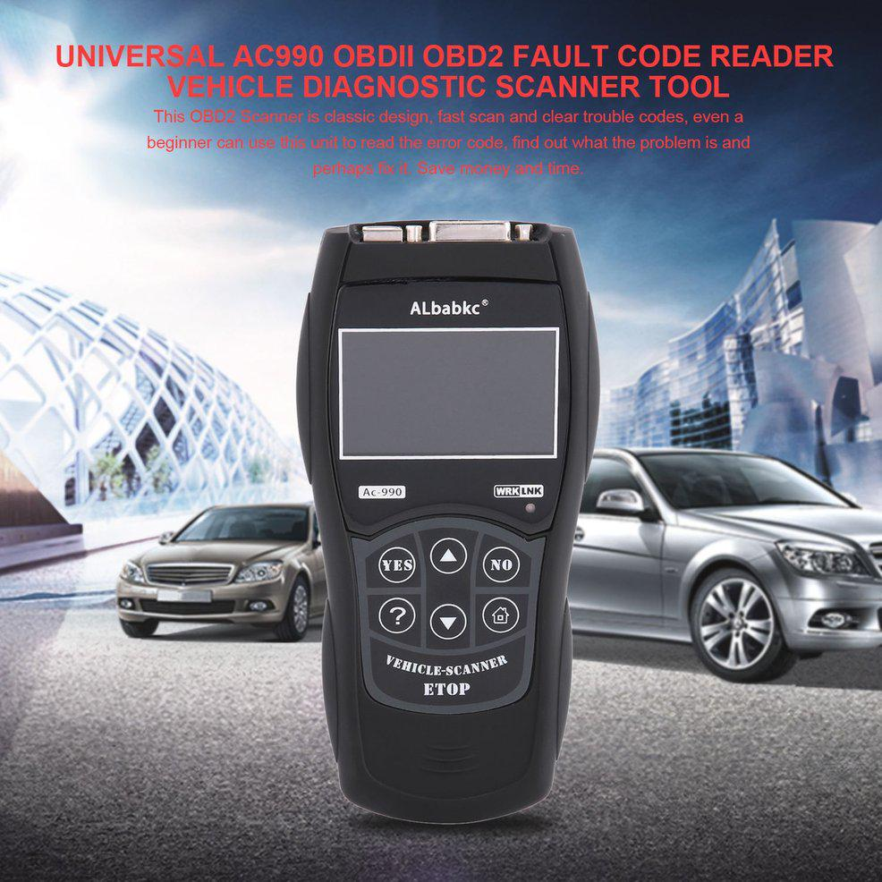 Vehicle scanner universal ac990 OBDII OBD2 scanner car detector fault code  reader