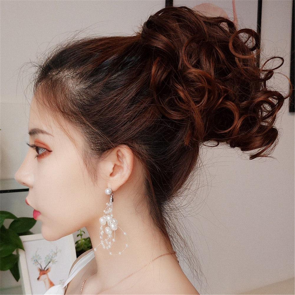 Female Tresse Mode 6 couleur Fleur épingle à cheveux Accessoires cheveux clip réaliste Perruque