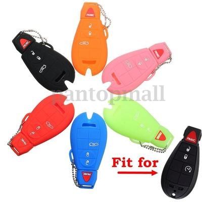 Silicone Key Fob Case Cover Fits For Jeep Chrysler 300 Dodge Ram 1500 2500 Skin