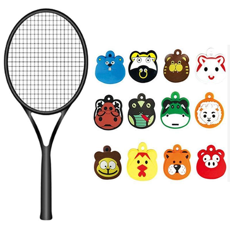 Cartoon Tennis Racket Damper Shock Absorber Tenis Racquet Vibration Dampener BBB