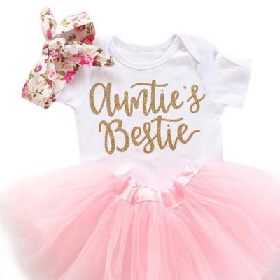 UK Newborn Toddler Baby Girl Leopard Romper Tops Dress Skirt 3PCS Outfit Sunsuit