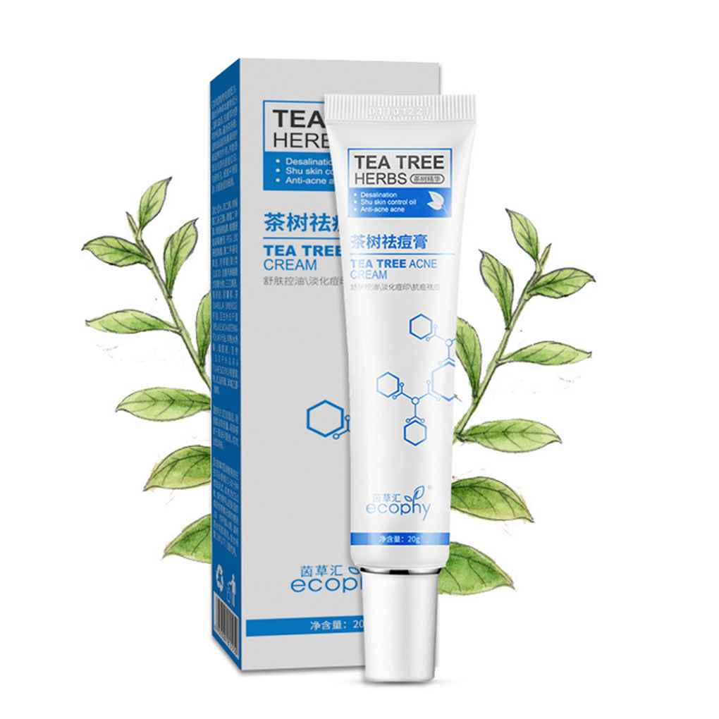 Ecophy Tea Tree Remove Acne Pimple Comedo Treatment Cream Scar Acnes Oil Clay Mask 50g 1 Of 3