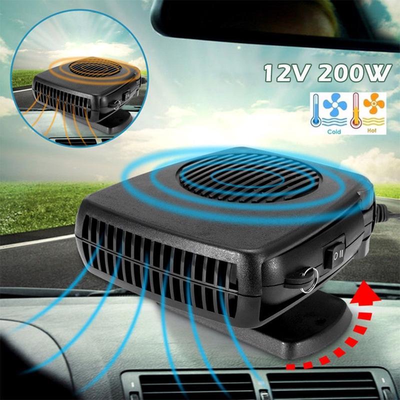 2in1 Portable Ceramic Car Fan Heater
