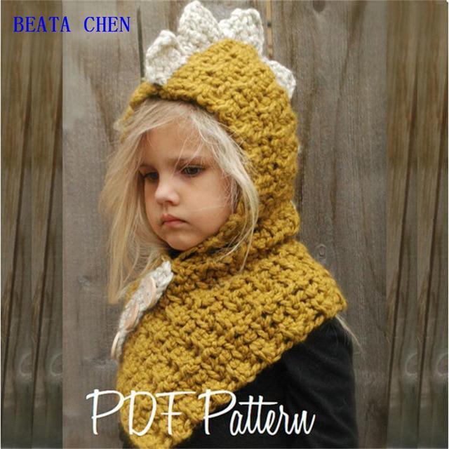 otoño y el invierno hecho a mano sombrero de los niños de dibujos ... e49e934d81c