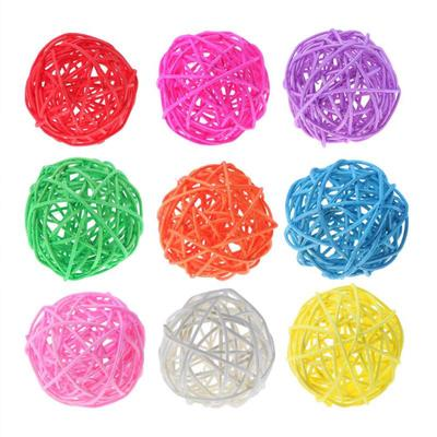 assorted Color Low Price 5pcs Wicker Rattan Ball Wedding Christmas Party Hanging Dec Nursery Mobiles 3cm