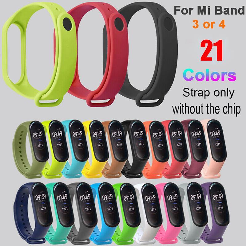Сяо Mi Band 4/3 Силиконовый Wrist Ремешок Браслет Замена Watchband для Miband 4 Xiaomi Mi Band 3 Ремешок Wristbands (Только ремешок) фото