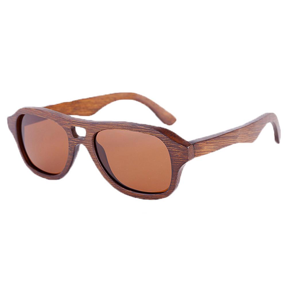 Bambus Holz Sonnenbrille beschichtet polarisierte Linse Unisex UV400 ...