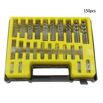 150Pcs 0.4-3.2mm Mini Micro Precision Twist Drill Bits Woodworking Rotary Tool
