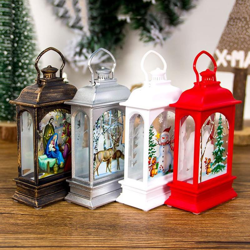 Модный Санта-Клаус Снеговик для домашнего светодиодного света Главная Декор Рождественские украшения Свеча Винтаж Xmas подвески – купить по низким ценам в интернет-магазине Joom