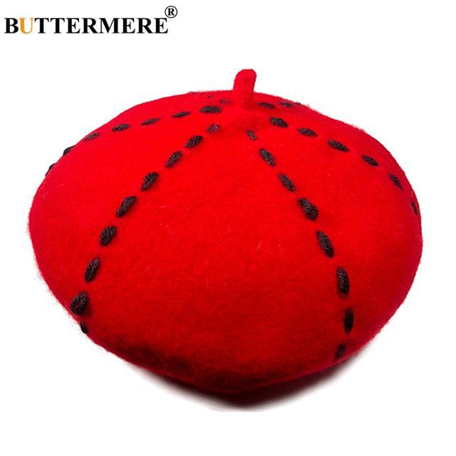 Casquillo clásico del invierno sombreros para mujeres de lana ... 29e286b5762